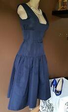 Shawn Ray Fons navy blue semi-formal/special event dress, Sz 4, 100% Silk