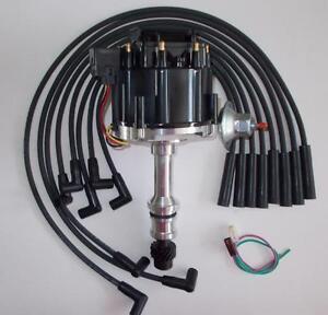 OLDSMOBILE 260,307,350,403 & 455 BLACK HEI DISTRIBUTOR & 8mm SPARK PLUG WIRES US