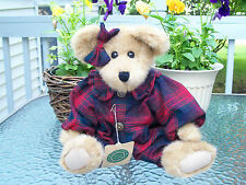 ~BOYDS~JOYELLE!~GOLDEN BEAR!~BUFFALO PLAID FLANNEL ROMPER & BOW!~EXCLUSIVE!~