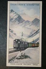 Ferro Carrile Trans Andino Railway   Chile    Vintage Card