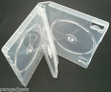 1X 4 WAY DVD CASE SUPER CLEAR  27MM SPINE - FILM GAME BLUE RAY DVDS WITH SLEEVE