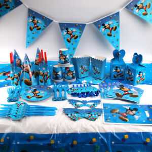 Mickey Mouse Kids Birthday Party Supplies Favor Tableware Decoration Plates