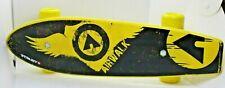 "Airwalk Plastic Skateboard 21"" Long 5 1/2"" Wide  Black Yellow Classic"