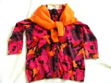 Womens Cashmere Cardigan Sweater NWOT Small Petite Talbots  Floral & FREE Scarf
