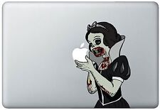 Zombie Snow White Holding Apple MacBook Pro / Air 11 Inch Vinyl Decal Sticker