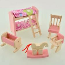 Wooden Nursery Room Doll House Furniture Miniature For Kids Play Toy Gift Hot GU