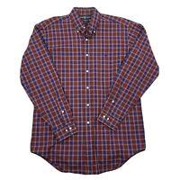 Ralph Lauren Mens Classic Fit Long Sleeve Plaid Button Down Shirt Sz 15½ Medium