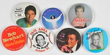 Atlantic City Casino Pinbacks Buttons 1980s Lot of 7 Tony Bennett Diana Ross
