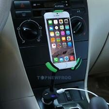 ALLOYSEED Car Smartphone Mount Holder w/ 3 Port USB Charger for GPS Mobile Phone