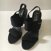 Circus by Sam Edelman Nixon Heels Black Sandals Size 6.5 M
