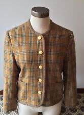 GROOVE ON Brown Plaid Lined Short  Heavy Winter Coat Jacket