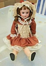 """Antique Bisque William Goebel Doll Germany 21"""" beautiful outfit was $500"""