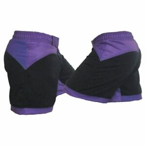 Black and Purple Female MMA Shorts - Warehouse Clearance