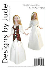 "Pirate Maiden Doll Clothes Sewing Pattern for 16"" Poppy Parker Dolls Integrity"