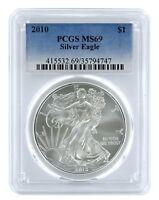 2010 1oz American Silver Eagle PCGS MS69 - Blue Label