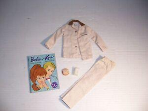 Vintage 1960s Barbie Boyfriend Ken Doll Sleeper Set # 781 Pajamas Cinnamon Roll