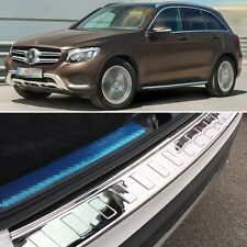 1x Stainless steel Rear Bumper Protector Cover Trim for Mercedes Benz GLC 16-17