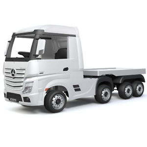 12V Mercedes-Benz Actros Race Truck with Trailer - White - Pre-Order ETA 25th Oc