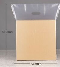 """100 x clear carrier bags patch bags 15""""x18""""x3"""""""
