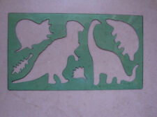 5 Stück Malschablone Kinder Schablone Dino Dinosaurier 2 (1071)