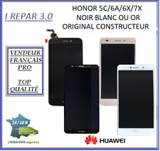 Ecran Lcd + vitre tactile Origine Huawei Honor 5C/6A/6X/7A/7X Noir Blanc ou Or