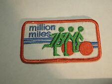 Vintage Million Miles Logo Design Iron On Patch