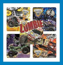16 Monster Jam Zombie Grave Digger Truck Stickers Party Favors