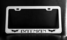 BATMAN DARK KNIGHT RISES License Plate Frame, Custom Made of Chrome Plated Metal