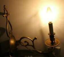Brass Candle Sconce Virginia Metalcrafters Colonial Williamsburg Restoration Vtg
