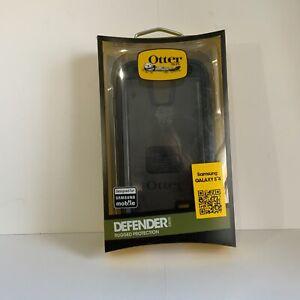 Otterbox Defender Series Black Shell Case Samsung Galaxy S4 New