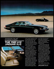 Jaguar V12 XJ-S vintage print ad 1988 in the desert
