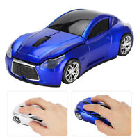 2.4GHZ Sport Car Design Wireless Mouse USB Game Mice 1200DPI for PC Laptop New