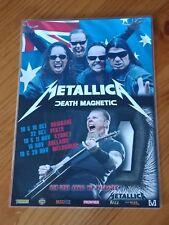 METALLICA - 2010 DEATH MAGNETIC Australian Tour - Laminated Promo Poster