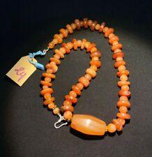 old beads Indo Tibetan carnelian beads mala