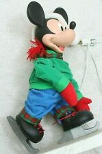 "Vintage 22"" Disney Unlimited Mickey Mouse Christmas Display Figure Ice Skating"