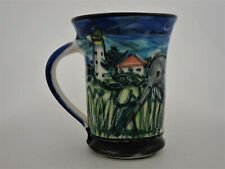 Lynda Harris Cup Hand Thrown/Painted New Zealand Little Spotted Kiwi