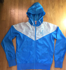 Rare Men's Small Vintage Nike Track and Field Windrunner Jacket Blue Pinwheel