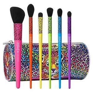 Morphe X Lisa Frank 6-Piece Makeup Eye Brush Set + Hunter Bag LIMITED EDITION