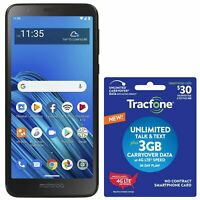 Tracfone Motorola e6 4G LTE Prepaid Cell Phone w/ $30 Airtime Plan Included