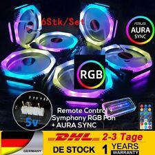 6tlg RGB Lüfter Set 7 Farben Gehäuse LED Fernbedienung Einstellbar AURA SYNC