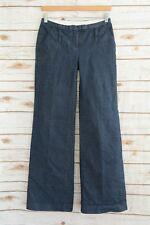 Laundry by Shelli Segal - Dark NAVY striped wide leg denim jeans, size 2