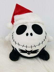 "Disney World Nightmare Before Christmas Jack Skellington Santa Hat Bean Plush 7"""
