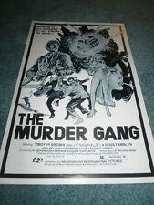 THE MURDER GANG(1976)TIMOTHY BROWN ORIG PRESSBOOK MINT