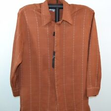 Smokey Joe's Button Front Mens Long Sleeve Shirt Cocoa NWT Medium
