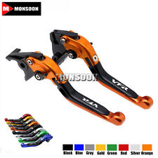 For HONDA VFR750 VFR800X VFR800 Folding Extendable Brake Clutch Levers 8 Colors