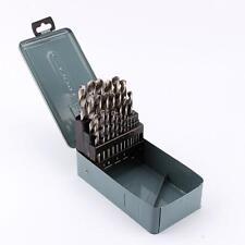 25Pcs HSS Set De Brocas Helicoidales Para Metal Ángulo 118° 1mm-13mm Con Estuche