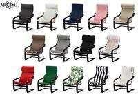 IKEA POÄNG (POANG) BLACK/BROWN Armchair Frame With Choice Of Various Cushions