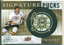 2014-15 Upper Deck Trilogy Signature Pucks Terry O'Reilly Auto