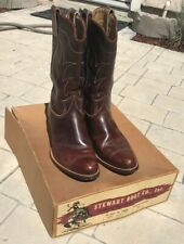 Vintage Stewart Boot Co Rockabilly 1950s 50s Cowboy Boots 10 D w/ box
