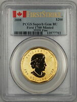 2008 Canada $200 Dollar Gold Coin PCGS Superb GEM BU *First 1700 Minted*